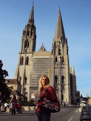 Monica and The Cathedral. Click image to enlarge