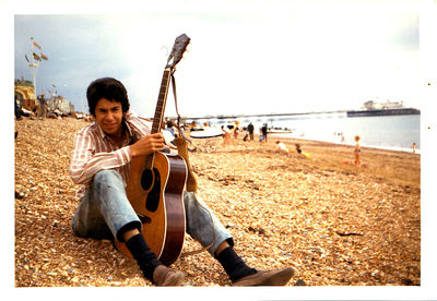 Charlie on Brighton beach, summer 1966