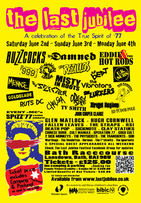 Click poster to enlarge - U.K. Subs playing Sunday 3rd June 2012