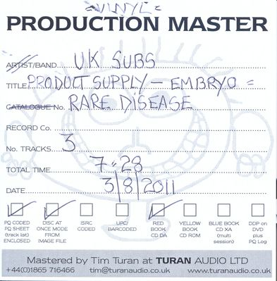 Production Master cover