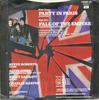 Party in Paris back cover (UK)