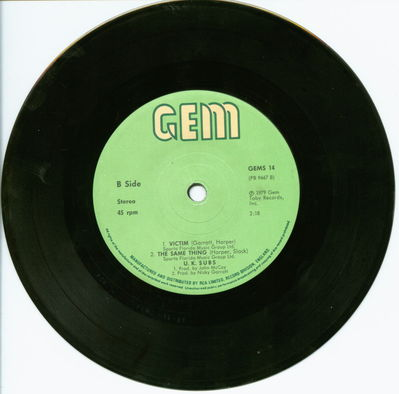Black Vinyl Solid Centre B-Side