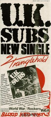 Stranglehold music press advert