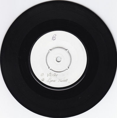 White label, black vinyl B-side
