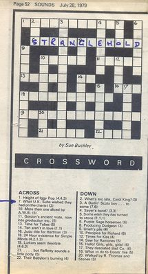 Sounds crossword
