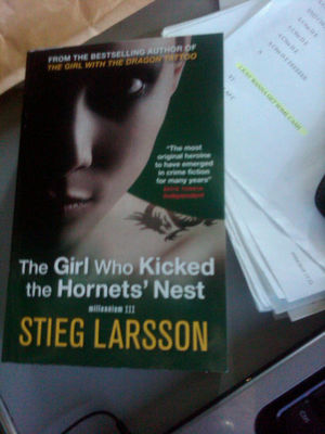 The   Girl Who Kicked The Hornet's Nest book cover - click to  enlarge