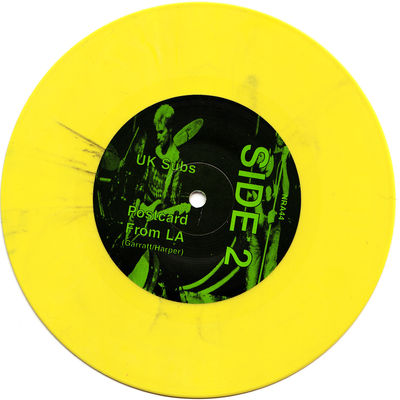 Solid Yellow with black streaks B Side