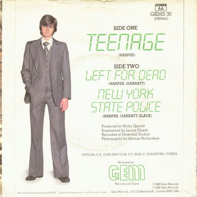 Teenage Back Cover (UK)