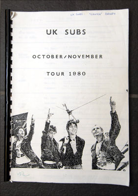 Itinerary cover