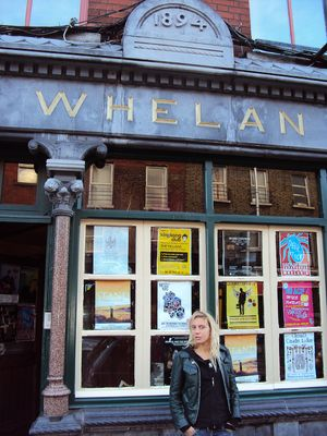 Monica outside Whelan's - click to enlarge