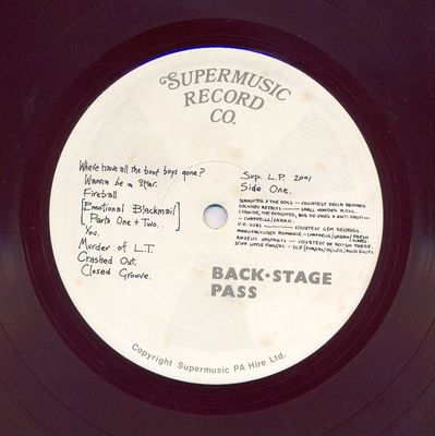 SUP.LP.2001 side 1
