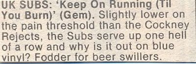 Single review, Record Mirror, 11th April 1981
