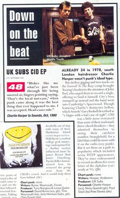 Mojo magazine article October 2001
