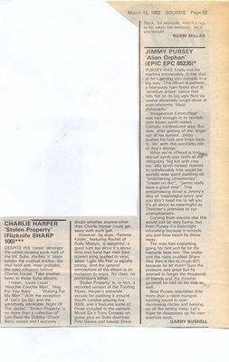 Album review, Sounds, 13th March 1982